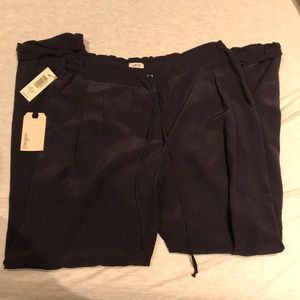 NWT washed silk Wilfred pants size 2